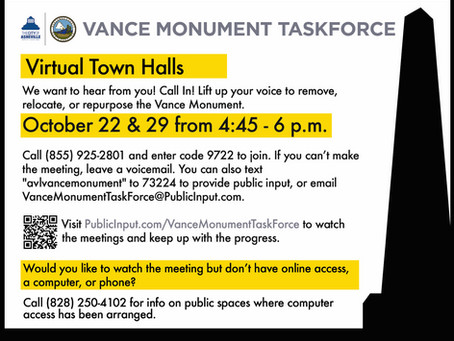 The Vance Monument Task Force Virtual Meetings