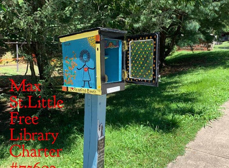 Max Street Little Free Library Renewed & Refreshed!
