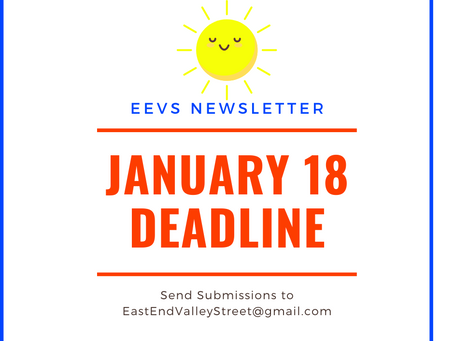 EEVS Newsletter Deadline