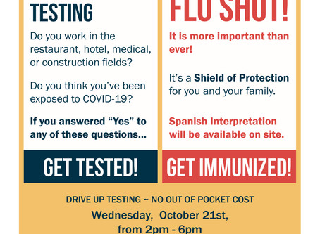 Get Tested for Covid-19 & Get Your Flu Shot in the Emma Neighborhood!