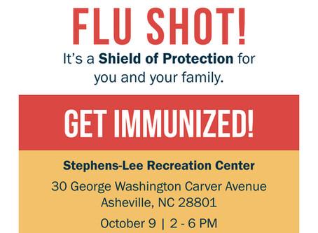 Get Your Flu Shot at Stephens-Lee October 16!