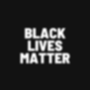 Black and White Black Lives Matter Insta