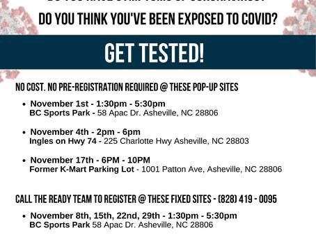 November Covid-19 Testing