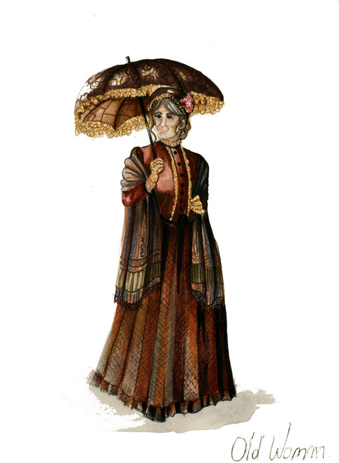 Old Lady Costume Rendering