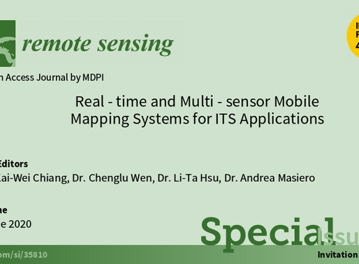 "2019/11/06 ""Real-time & Multi-sensor Mobile Mapping Systems for ITS Applications"" on Remote Sensing"