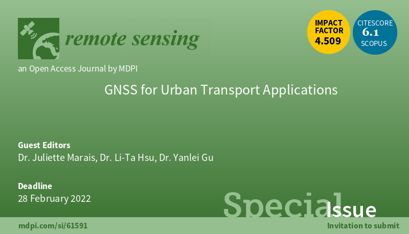 Special issue for the Remote Sensing Journal