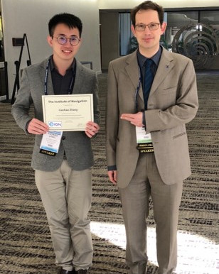 2018/09/26 Guohao ZHANG won the Best Presentation Award in a session of ION GNSS+ 2018.