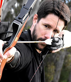 Andrew Donald, this is a picture of Andy poised ready to shoot his arrow from his bow.