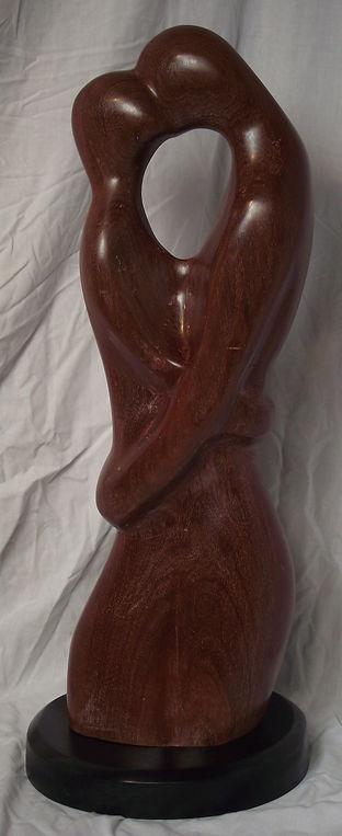 The sculpture entitled Devotion