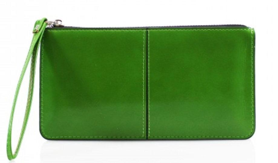 Wristlet Clutch Purse -Apple Green