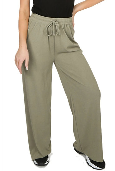 Khaki Stretch Trousers -S/M fit up to 14