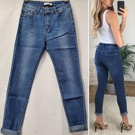 Turn up Denim Jeans -sizes 8-22