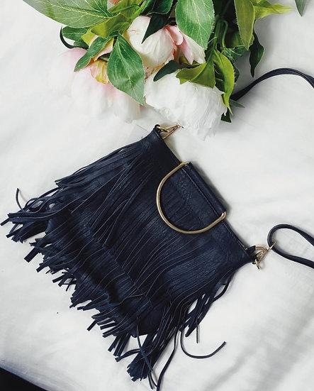 Boho Tassel Bag -Black