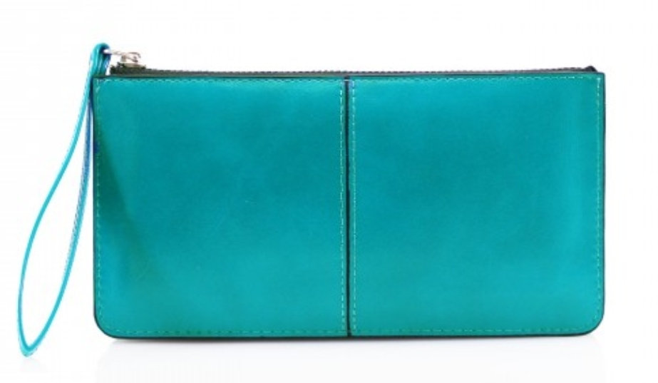 Wristlet Clutch Purse -Turquoise Blue
