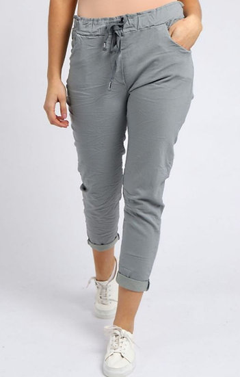 Italian Magic Pants (10-14/16) - Ice Grey