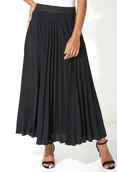 Pleated Maxi Skirt - Black