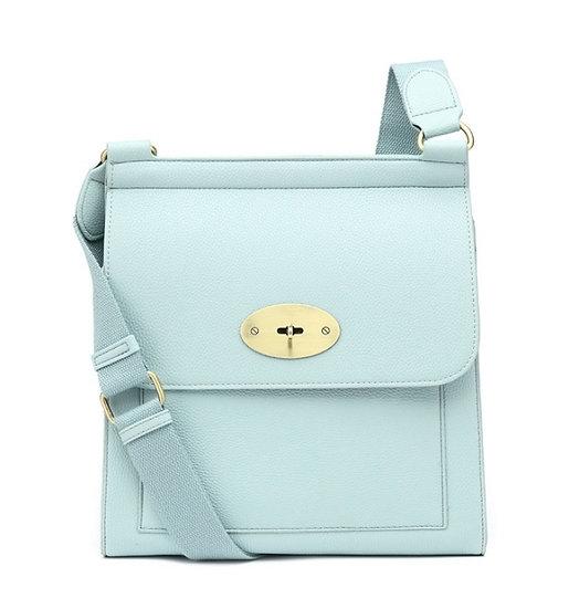 Designer Inspired Messenger Bag Large-Mint Blue