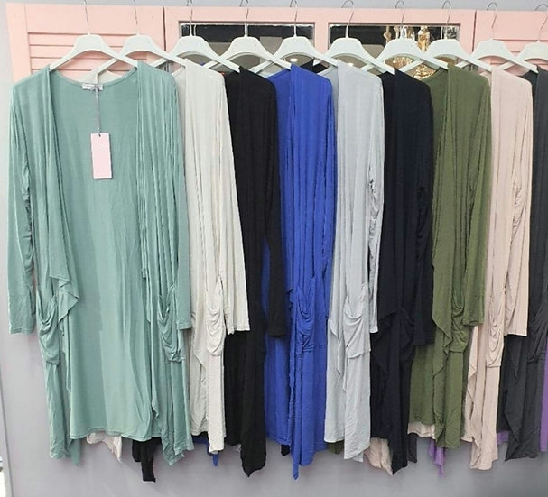Soft Jersey Waterfall Cardigan with Pockets -Various colours