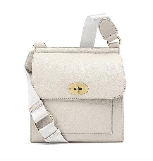 Designer Inspired Messenger Bag Small -Light Grey