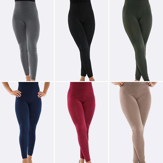 Curve range High Waisted Fleece Lined Leggings -Various colours (size 14-22)