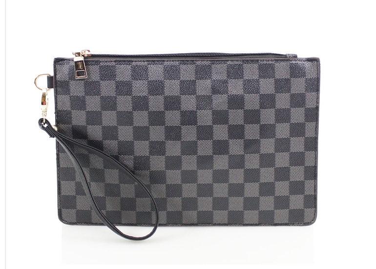 Designer Inspired Clutch Bag -Black