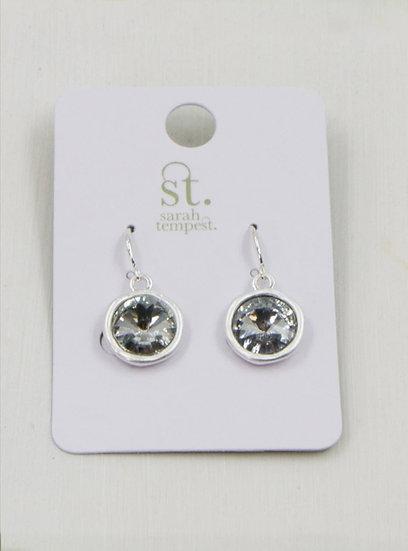 Cut Glass Crystal Drop Earrings