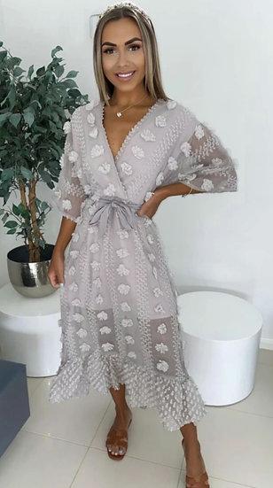 Stunning Luxury Dress -Light Grey