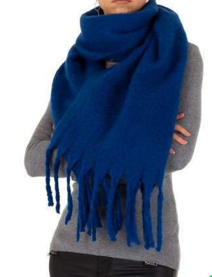 Large Soft Scarf -Royal Blue