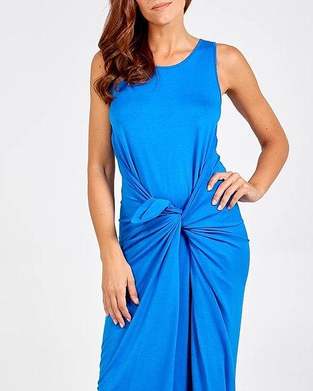 Italian Parachute Maxi Dress -Cobalt Blue