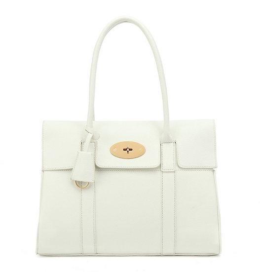 Designer Inspired Tote Bag - White