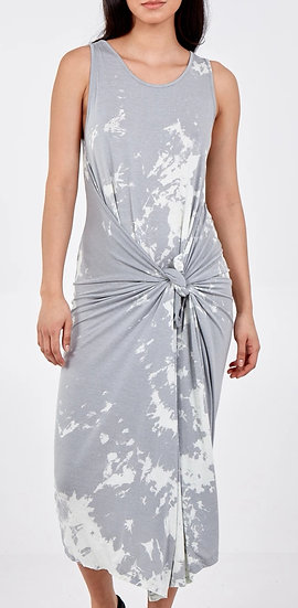 Italian Splash Tie Dye Parachute Dress -Ice Grey