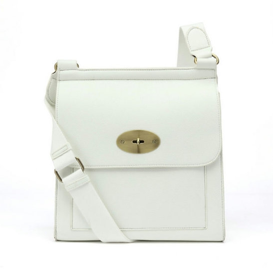 Mulberry Style Messenger Bag Small -White