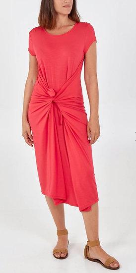 Italian Cap Sleeve Parachute Dress -Hot Pink