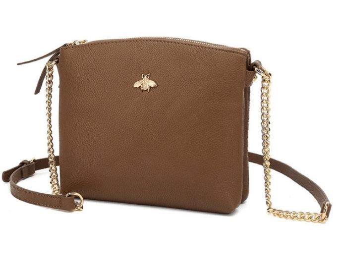 Designer inspired bee cross body bag -Brown 🐝