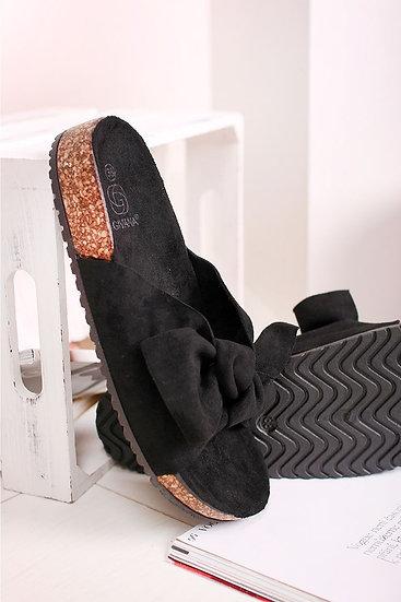 Black Bow Sliders