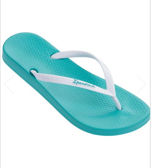 Ipanema Anatomic Flip Flops- Turquoise/white