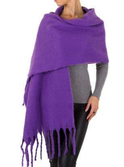 Large Soft Scarf -Purple