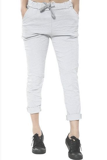 Italian Magic Striped Pants  (10-14/16) -Beige
