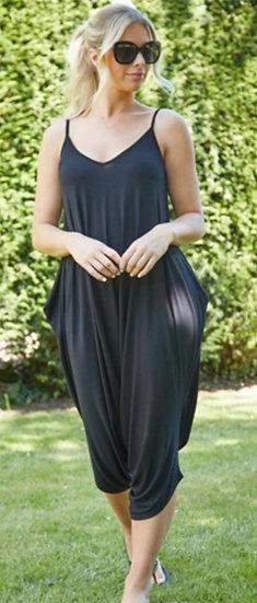 Italian Jersey Jumpsuit -Black
