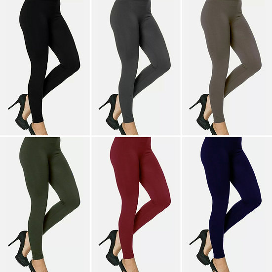 Soft High Waisted Leggings -Various colours (one size up to a 14)