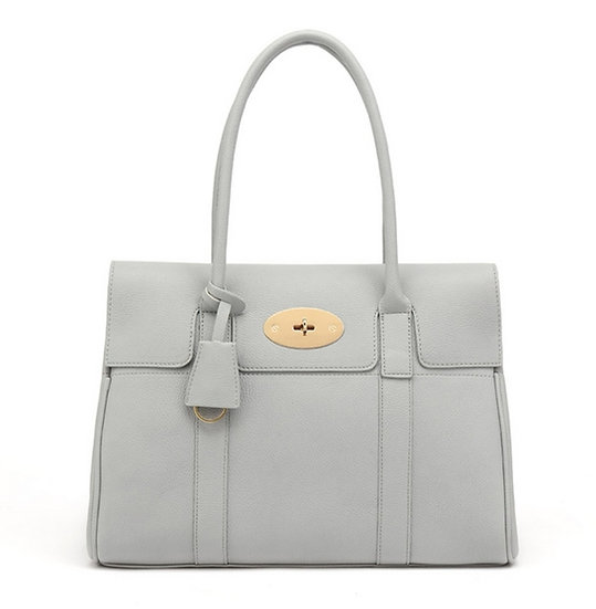 Designer Inspired Tote Bag - Light Grey