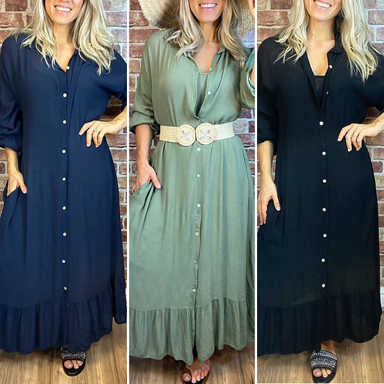 Italian Layered Shirt Dress -Various