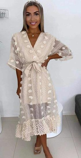 Stunning Luxury Dress -Beige