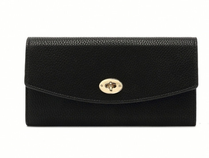 Mulberry Style Black Purse with Red Lining