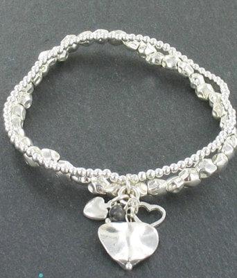 Double Strand Hearts Bracelet