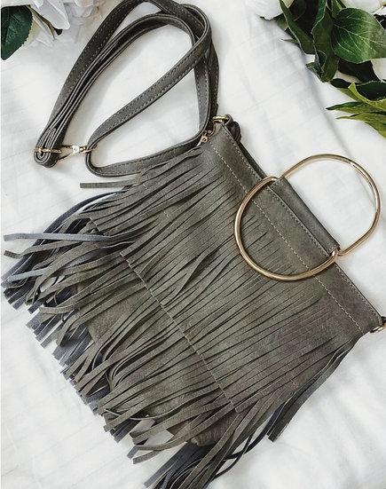 Boho Tassel Bag -Grey