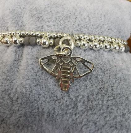 Elephant Charm Bracelet (Silver plated)