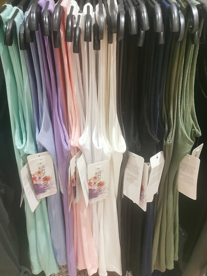 Plain Italian Vest Top -Various colours