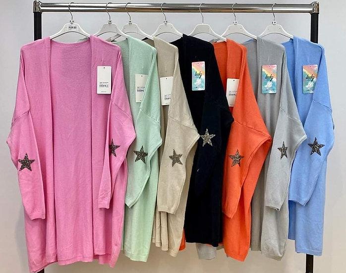 Soft Knit Star Elbow Cardigan - Various