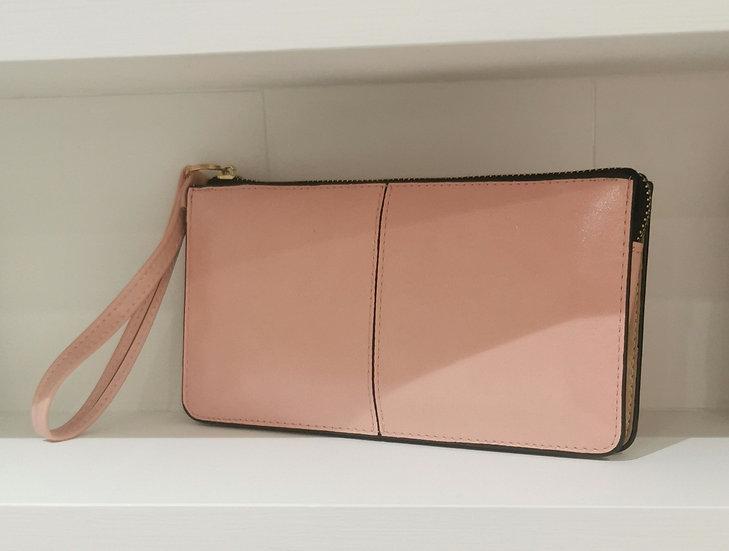 Wristlet Clutch Purse -Baby Pink